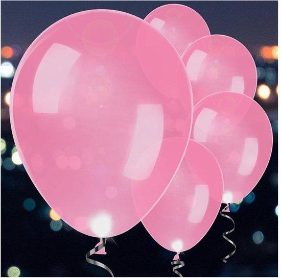 Ballonnen - LED Roze - 5 stuks