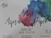 Aquarel Papier - A4 Formaat 21x29,7cm - 300 gram g/m² - blok 20 vel - Aquarelblok - Aquarelpapier verf