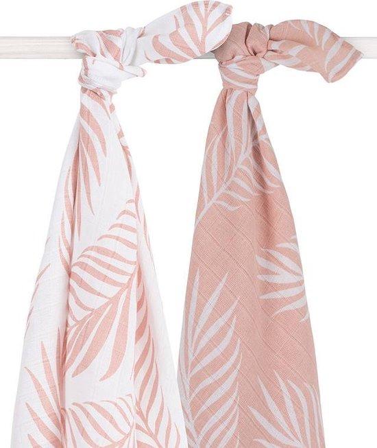 Jollein Nature Hydrofiel multidoek large 115x115cm pale pink (2pack)