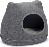 Cat cave yupik felt, grey 40 cm