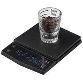 Koffie | Weegschaal | Timer | Oplaadbaar | Led display | Barista | Zwart | brewgear.store