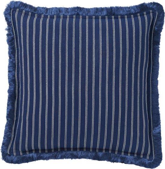 PALAIS Sierkussen Diana (Navy Blauw, 50x50 cm) - 100% linnen - Duurzaam - Handgemaakt