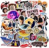 50 Stranger Things stickers voor laptop, muur, deur etc.