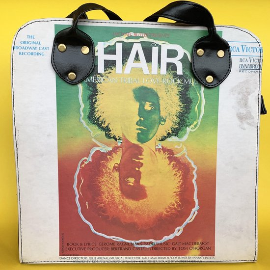 Wana Bana Vintage Schoudertas Zwart - Vegan - Hair