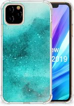 iPhone 11 Pro Back Cover Painting Blue
