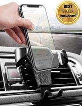 KREEZI RX4 PRO - Universele mobiele telefoon houder voor in de auto - Hoge kwaliteit - Zwart - Ventilatierooster - Ventilator - Universeel - Mobielhouder - Autohouder - Ventilatie rooster - GSM - Mobile phone holder car - Smartphone