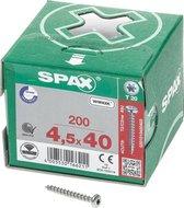 ABC-Spax Spaanplaatschroef - TO CK KV - 4,5 x 40 mm - 200 stuks