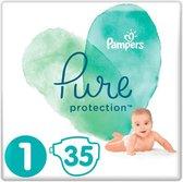 Pampers Pure Protection Baby Luiers Maat 1 - 35 luiers