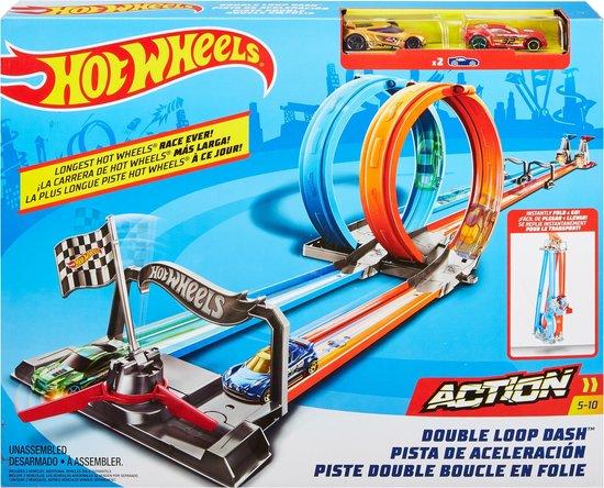 Afbeelding van Hot Wheels Action Dubbele Loopingrace Speelset