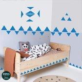 Driehoek muurstickers set van 85 stickers in de kleur Kobalt Blauw (2)