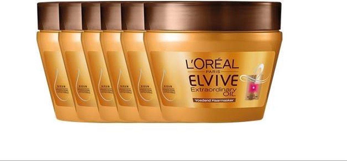L'Oréal Paris Elvive Extraordinary Oil - Voordeelverpakking 6 x 300 ml - Masker - L'Oréal Paris