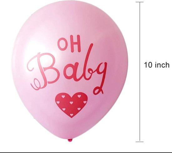 Fabs World ballon Oh Baby roze