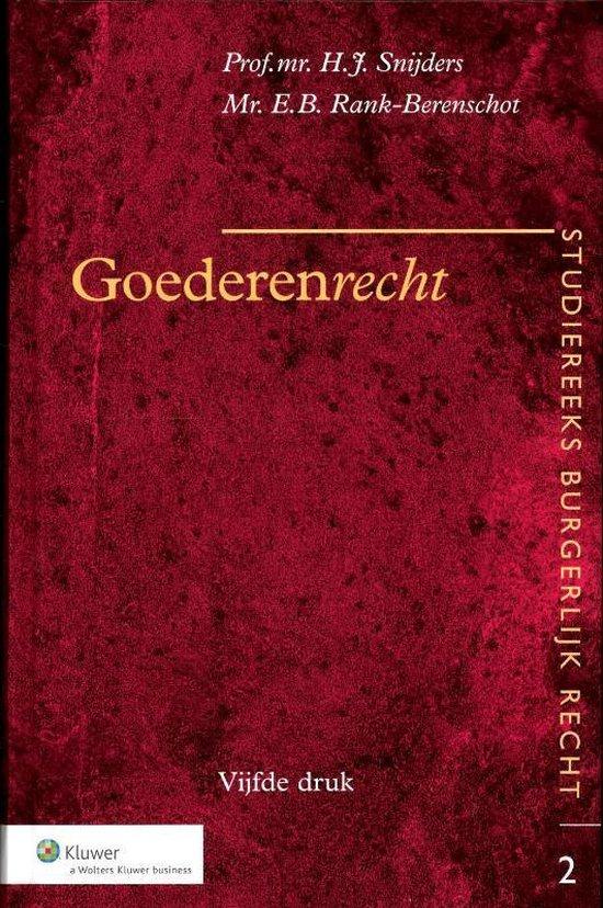 Goederenrecht - H.J. Snijders |
