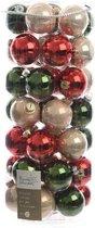 Decosis Kerstballen Mix - 49 stuks - ø 6cm - Glas - Red Green