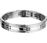 The Jewelry Collection For Men Armband Poli/mat 12 mm 22 cm - Staal