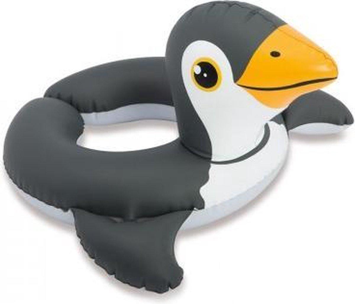 Opblaasbare Kinder Zwemband - 3 tot 6 Jaar - Zwart Witte Penguin