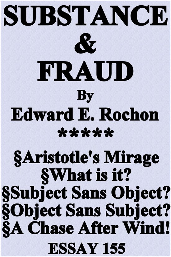Substance & Fraud