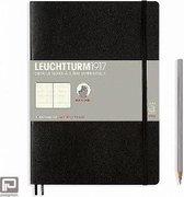 Leuchtturm1917 Softcover Notitieboek Zwart - Composition B5 - Puntjes