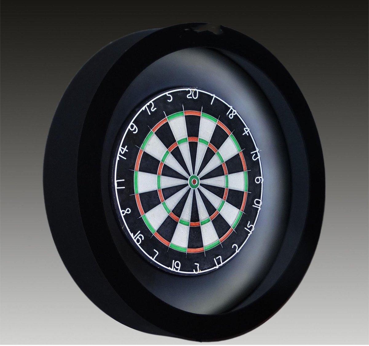 TCB XXL - Dartbord Verlichting Complete Combiset inclusief - dartbord - inclusief - dartboard surround - Zwart