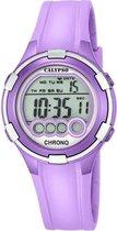 Calypso K5692/8 digitaal horloge 38 mm 100 meter paars/ grijs