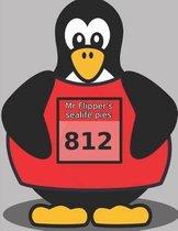 Marathon Runner Penguin Composition Book