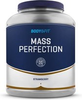 Body & Fit Mass Perfection - Weight gainer - 2200 gram - Aardbei milkshake