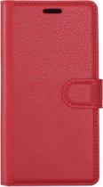 Mobigear Litchi Wallet Book Case Rood Samsung Galaxy S8
