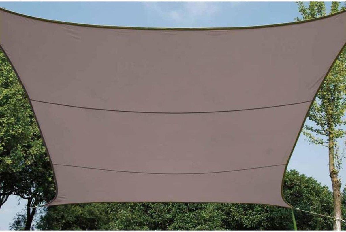 Schaduwdoek - Zonnezeil - Vierkant 3.6 X 3.6 M, Kleur: Taupe