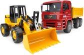 Vrachtwagen en Bulldozer