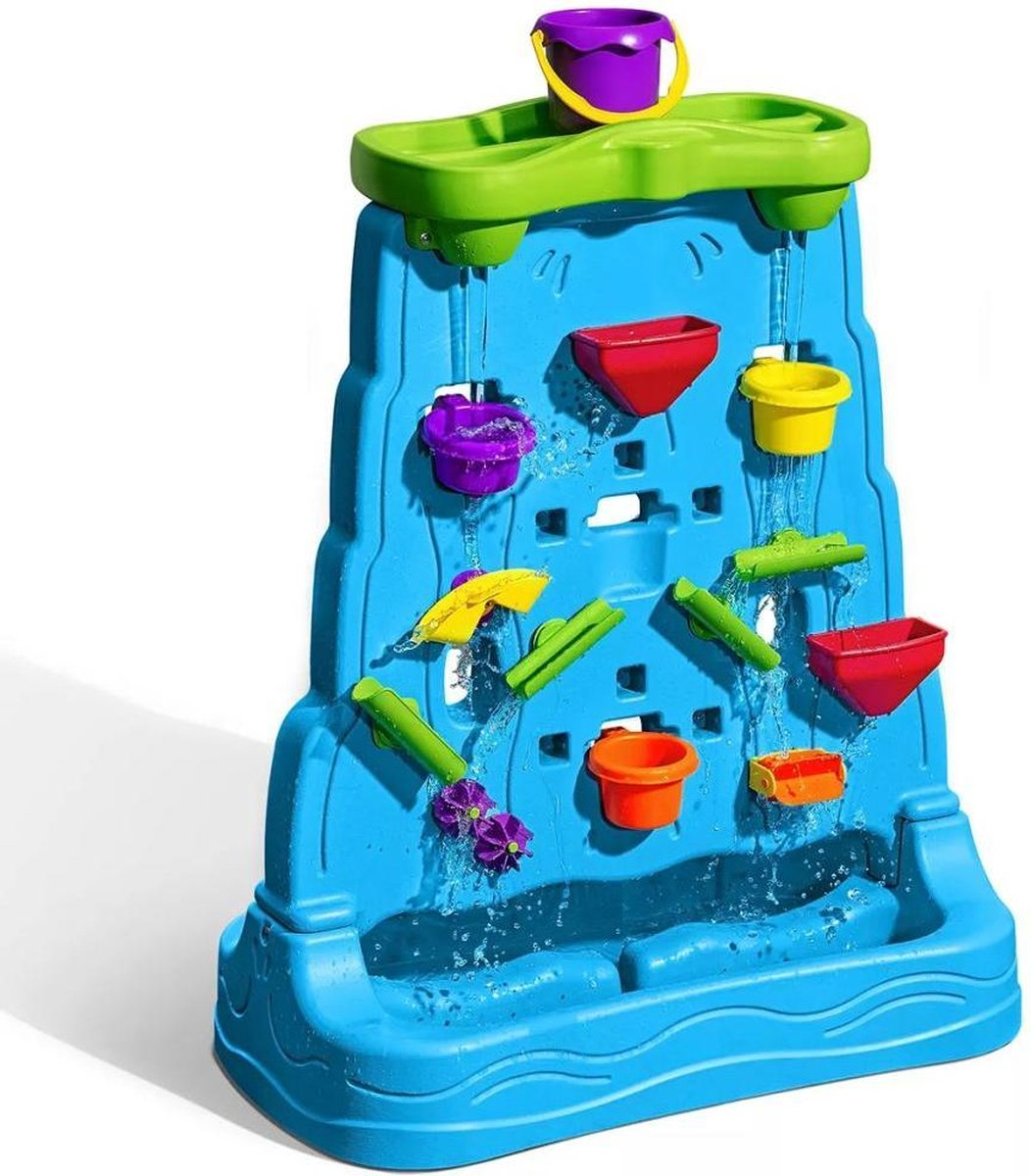 Step2 Waterfall Discovery Wall - Dubbelzijdig - Incl. 13-delige accessoire-set