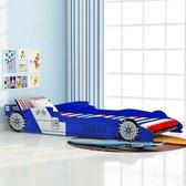 vidaXL Raceauto Kinderbed - blauw - 90x200 cm