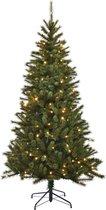Black Box kunstkerstboom -  120x72 cm - Groen - 195 takken - Verlichting 80 lampjes