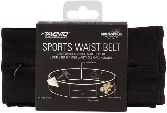 Avento Sportband - Twist - Zwart/Zilver - L