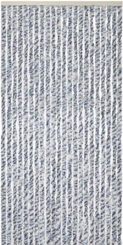 Kynast Kattenstaart Vliegengordijn - 90x200 cm - Grijs/Wit