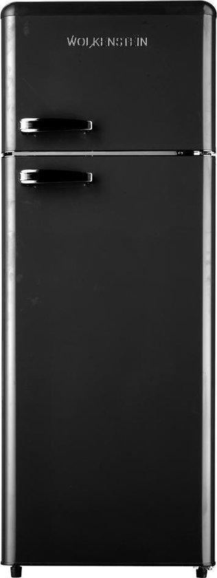 Koelkast: Wolkenstein GK 212.4 RT - Compacte Retro Koel-vriescombinatie - Zwart, van het merk Wolkenstein