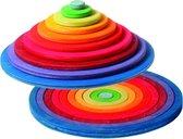 Grimm's concentrische regenboog ringen en schijven