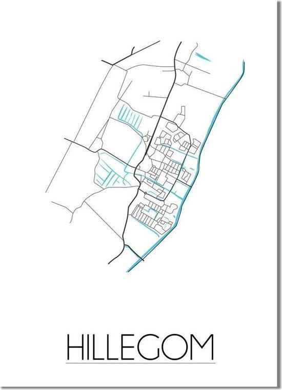 DesignClaud Hillegom Plattegrond poster - A2 poster (42x59,4cm)