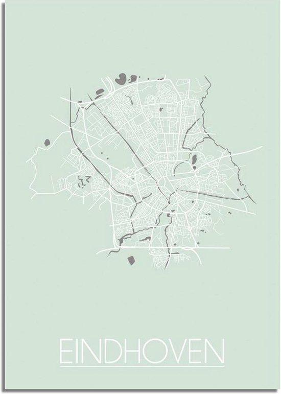 Plattegrond Eindhoven Stadskaart Poster DesignClaud - Pastel groen - B2 poster