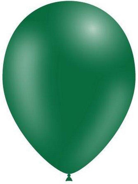 Donkergroene Ballonnen 25cm 10st