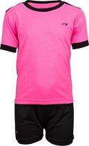 Avento Sportset Madrid - Junior - Fluorroze/Zwart - 140