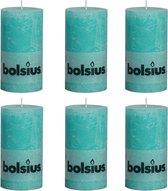 Bolsius Rustiekkaarsen 130x68 mm zeeblauw