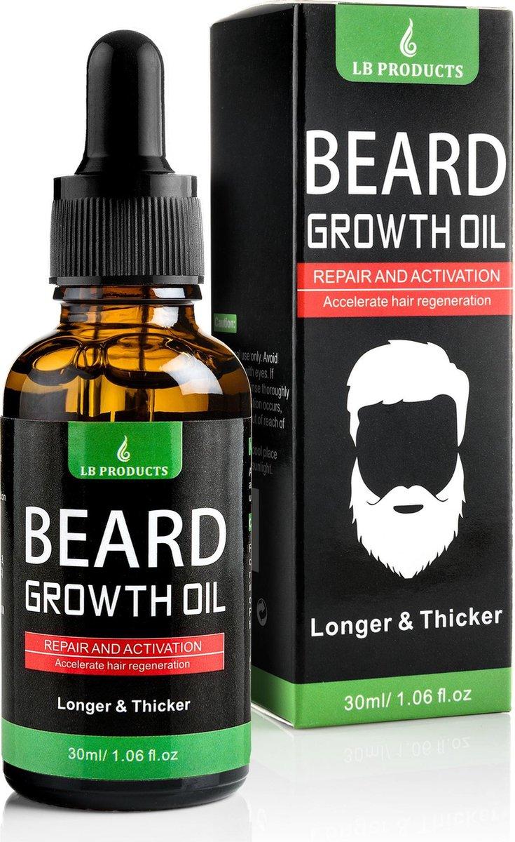 LB Products  Baardgroei Olie - Baardolie - Baard groei middel - Baardhaar - Baardgroei stimuleren -