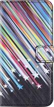 Mobigear Wallet Book Case Meteor Shower iPhone 7 Plus / 8 Plus