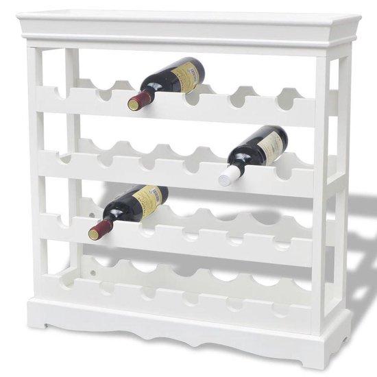 vidaXL Wijnrek - 70 x 22,5 x 70,5 cm - Abreu wit - 24 flessen - vidaXL