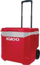 Igloo Lattitude 60 roller - Grote koelbox op wielen - 57 Liter - Rood