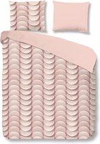 Good Morning 5413-A met grafische print - dekbedovertrek - tweepersoons - 200x200/220 cm  - katoen - roze