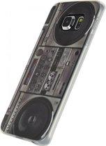 Xccess TPU Case Samsung Galaxy S6 Edge Retro Radio