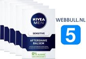 5 x NIVEA MEN Sensitive Aftershave Balsem - 100 ml