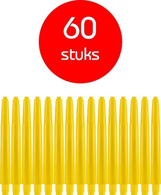 Dragon Darts - darts shafts - 20 sets (60 stuks) - medium - geel - dart shafts - shafts