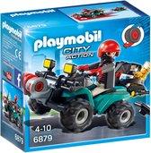 PLAYMOBIL City Action Bandiet en quad met lier - 6879